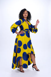 Cicely African Print Wrap Dress