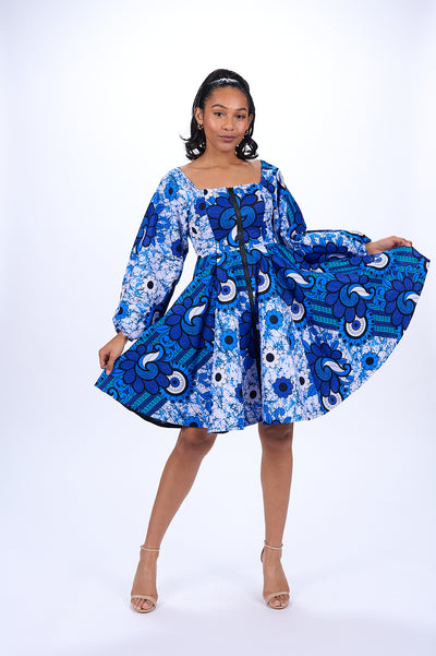 Zama African Print Jacket Dress