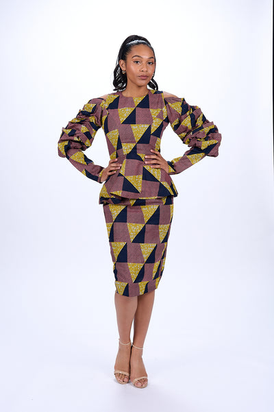 Mekaila African Print Pencil Skirt
