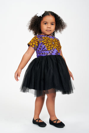 Omore African Print Dress Kids
