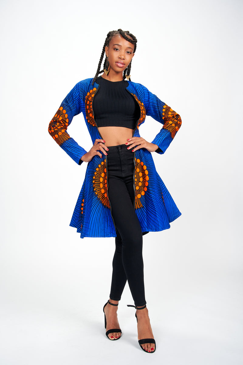 Madu II African Print Jacket Dress