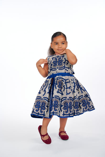 Ajani African Print Kids Dress