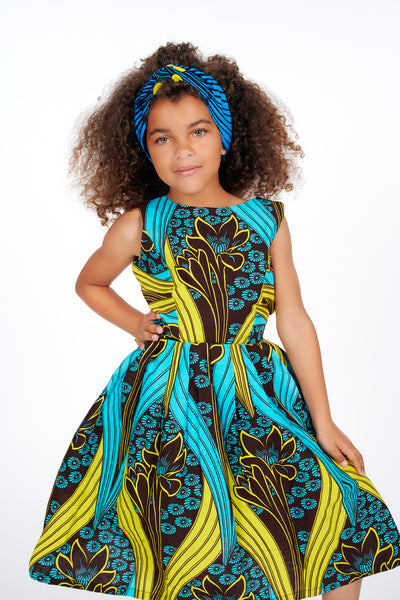 Bolanle African Print Kids Dress