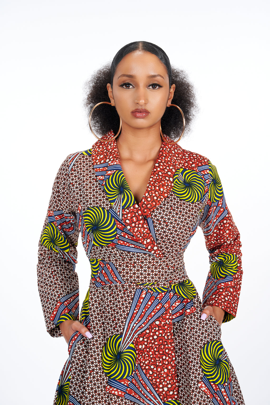 Tolani African Print Wrap Dress