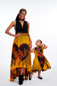 Josi high-low African Print Kids Dress