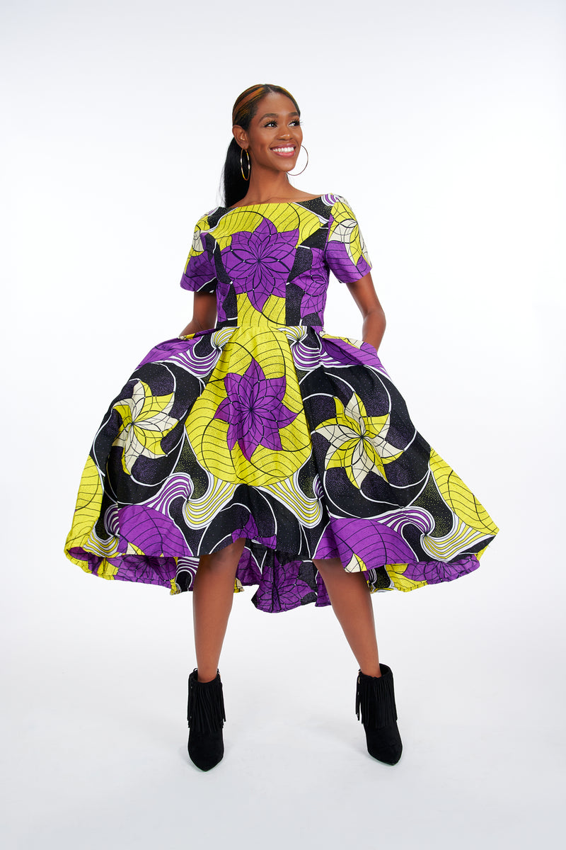 Omotayo African Print Dress