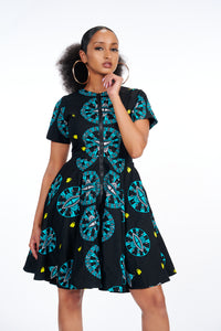 Abifoluwa African Print Jacket Dress