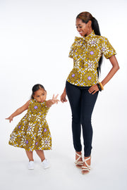 Eyitope African Print Kids Dress