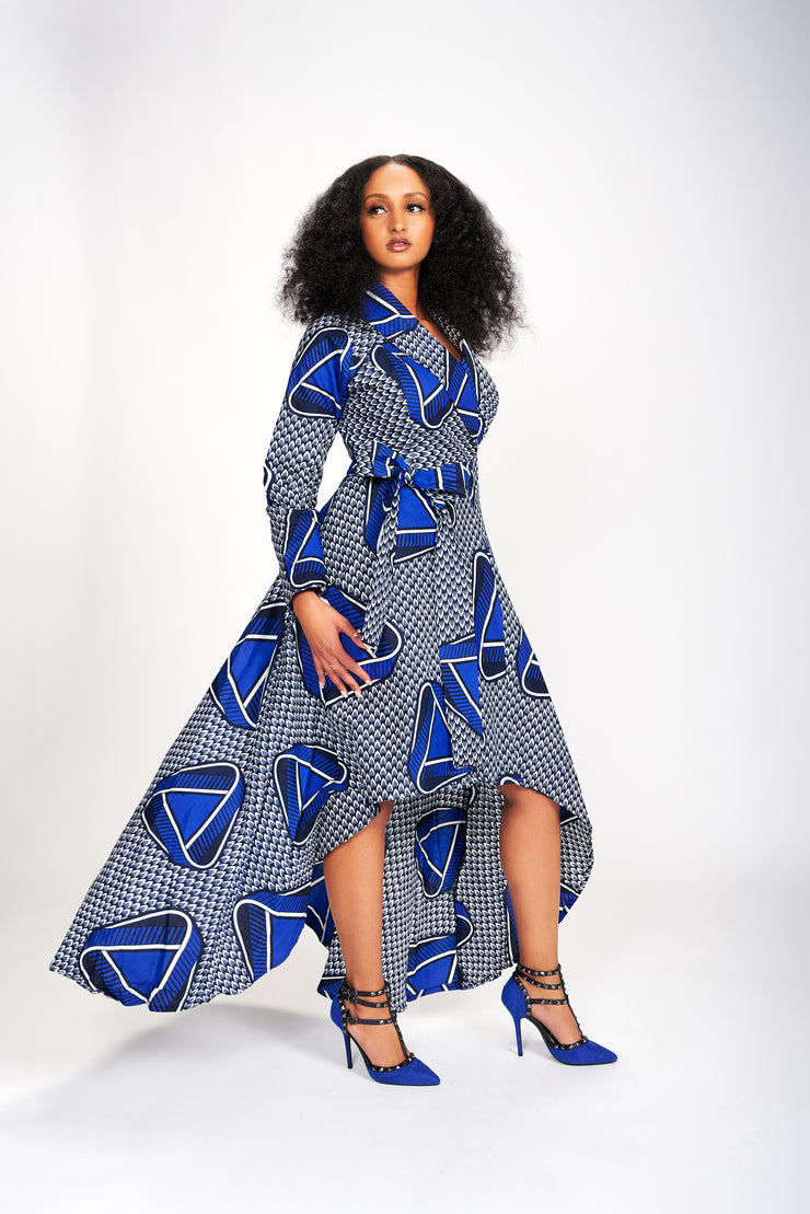 Ope African Print Wrap Dress