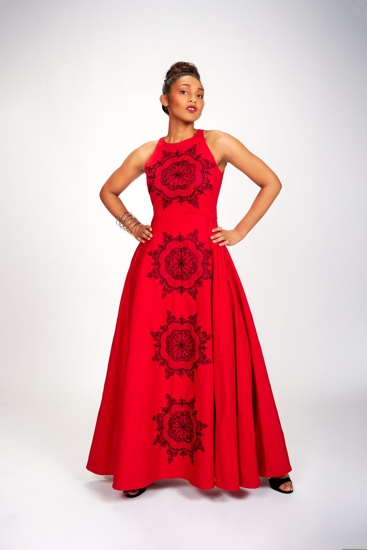 Abioye Dress (Red I)