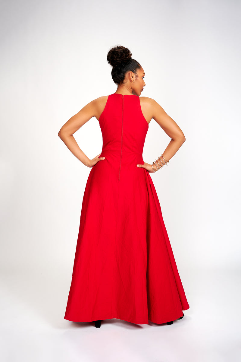 Abioye Dress (Red I) Pre-order. Ships 3 weeks after order