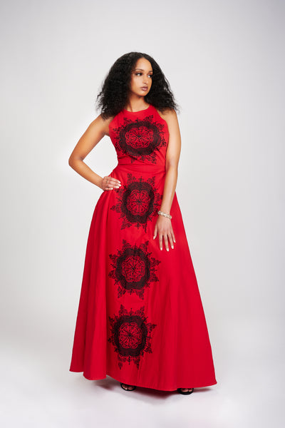 Abioye Dress (Red II)