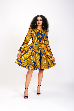 Ere African Print Jacket Dress