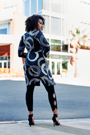 Tele African Print Jacket Dress