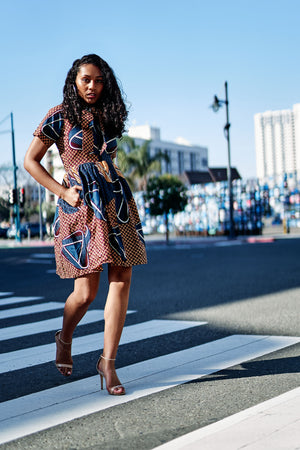 Abebi African Print Dress