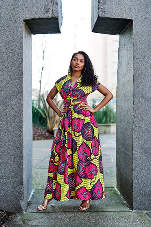 Bisi African Print Infinity Style Maxi Dress