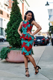 Enilo African Print Dress