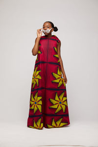 Ademi African print Dress