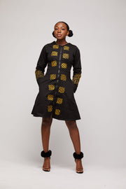 Toye African Embroidered Jacket Dress