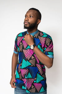 Jaye African Print Men's Shirt