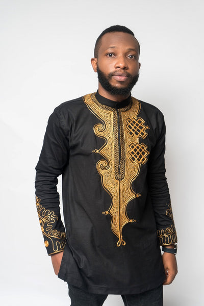 Toye Bishop Collar Men's African Print Tunic
