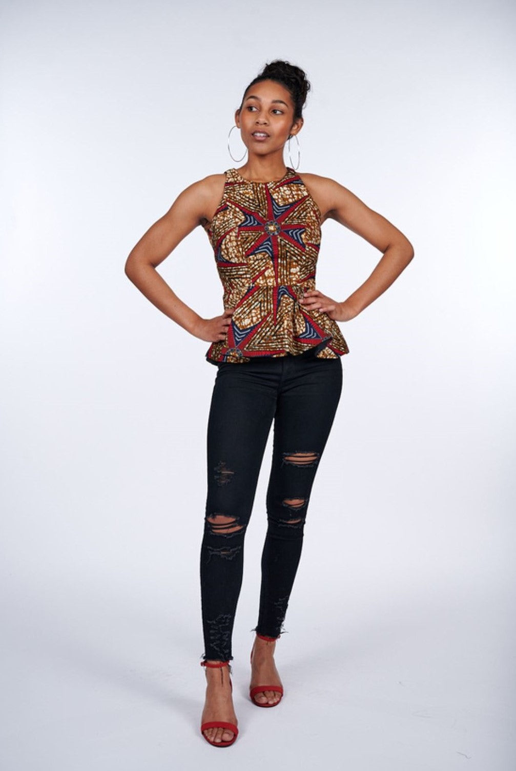 Simisola African Print Top