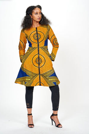 Yejide African Print Jacket Dress