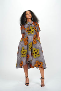 Anike African Print Dress