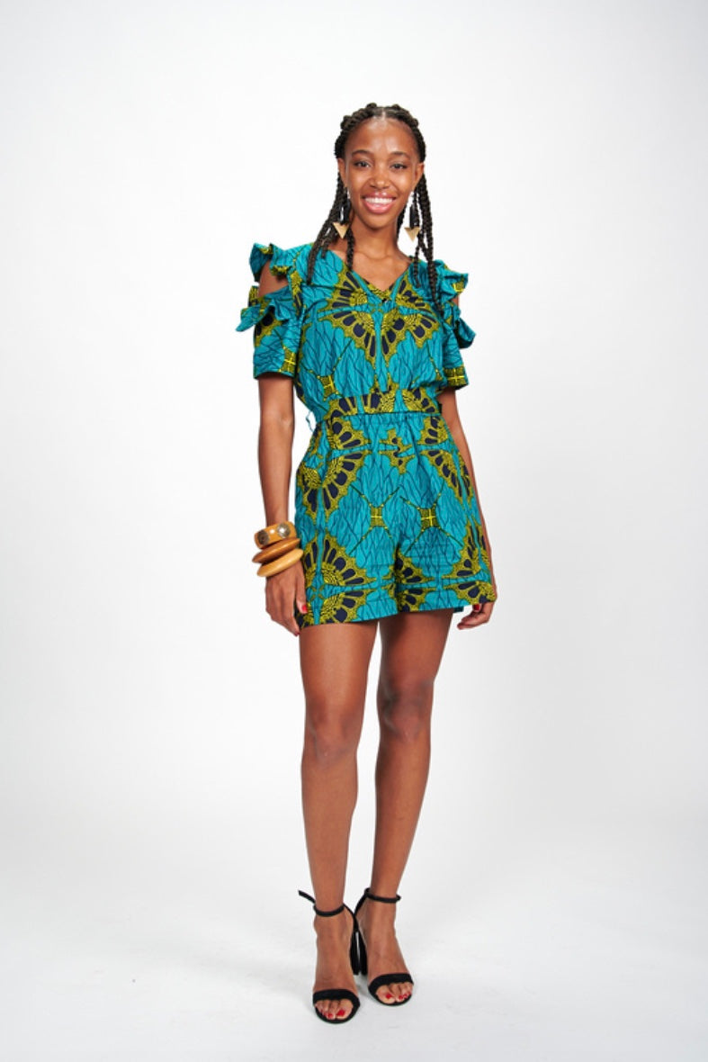 Fola African Print Playsuit