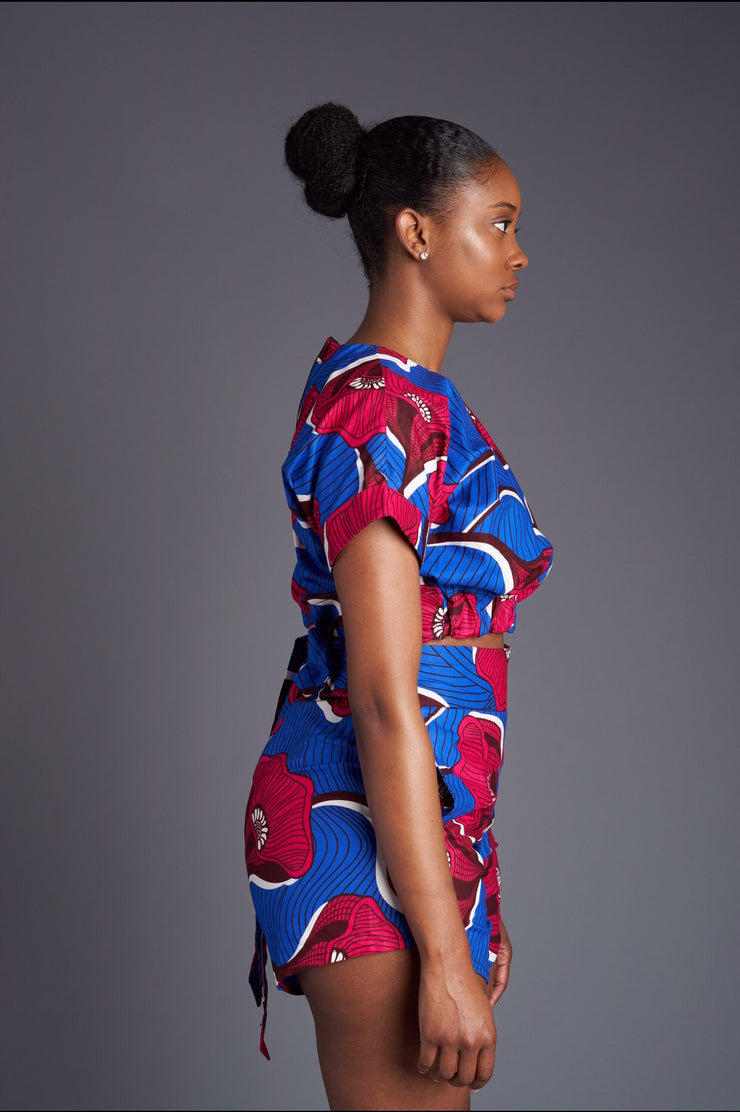 Tola African Print cropped top