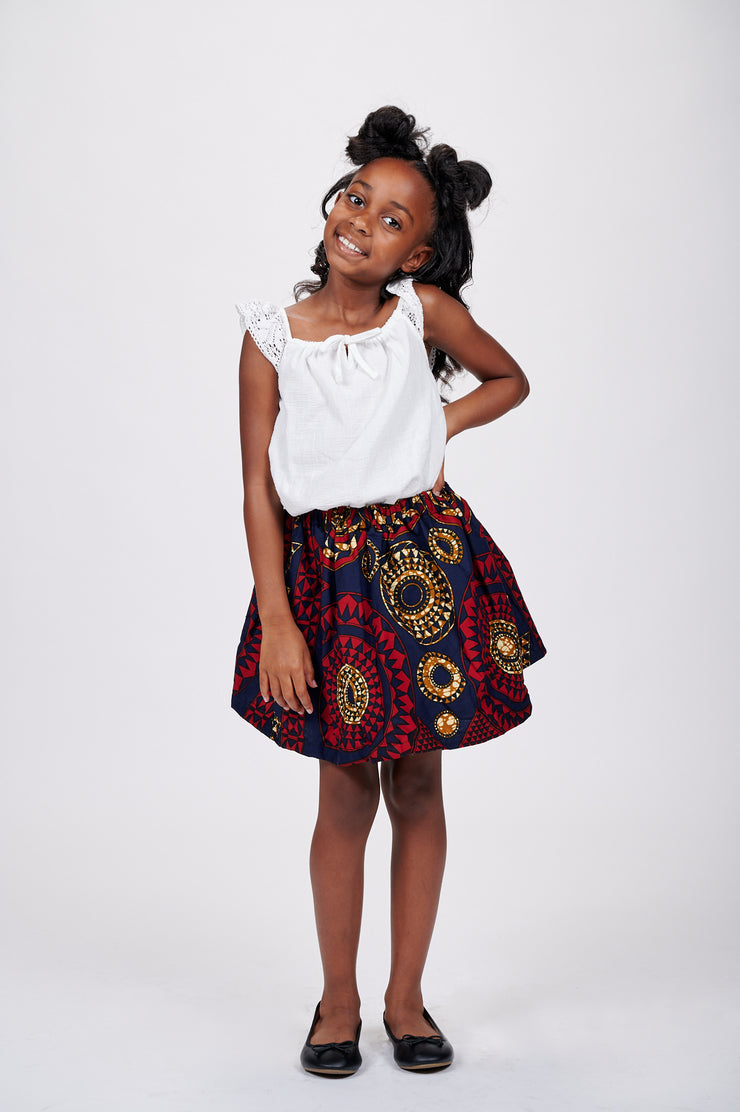 Nina African Print Skirts For Kids
