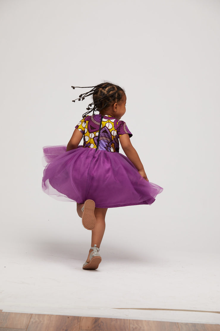 Korede Kids' African Print Dress