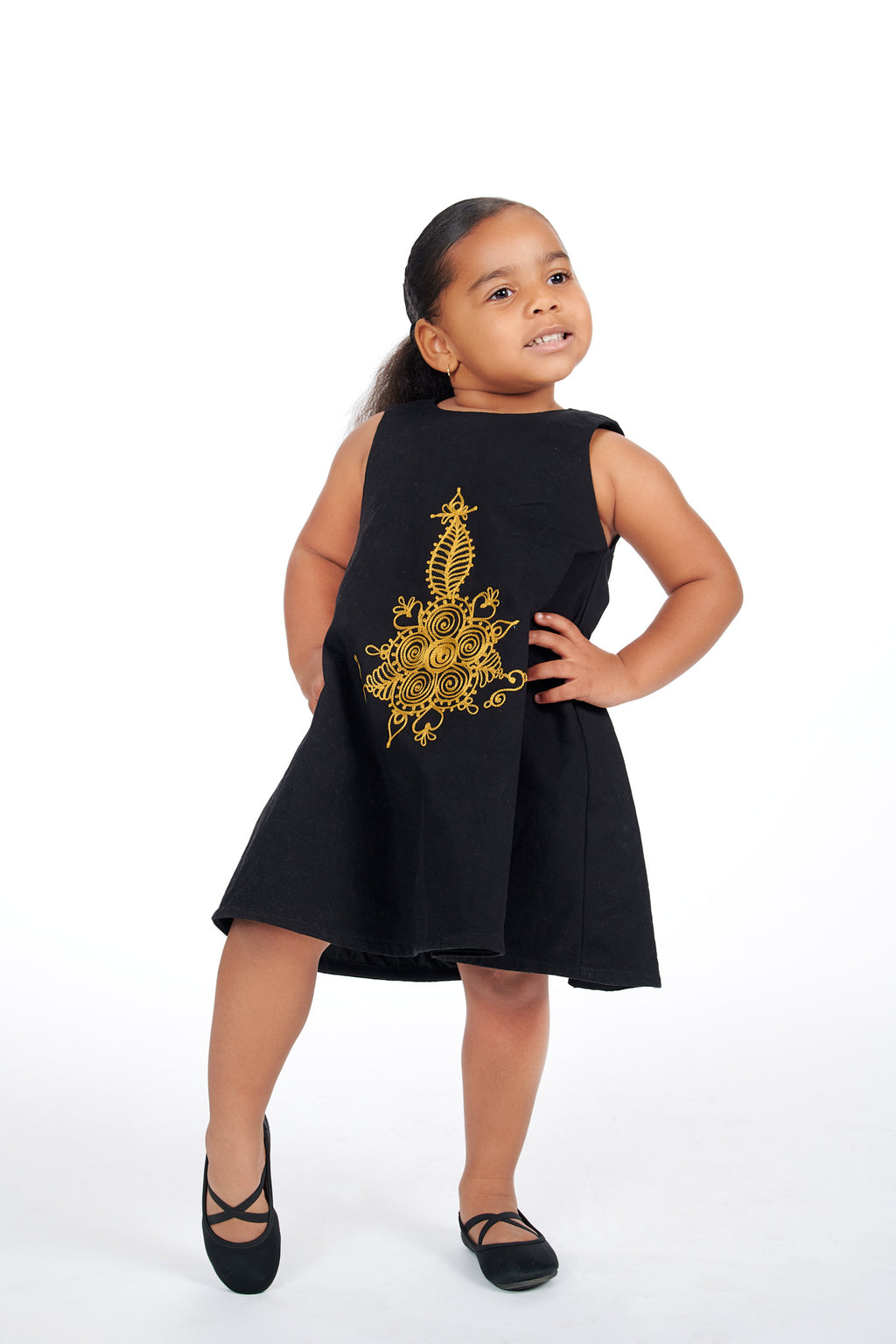 Toye African Embroidered Kids Dress