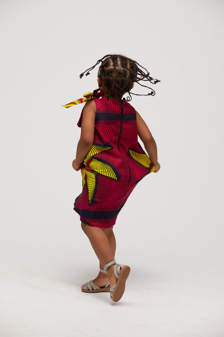 Ademi African Print Dress Kids