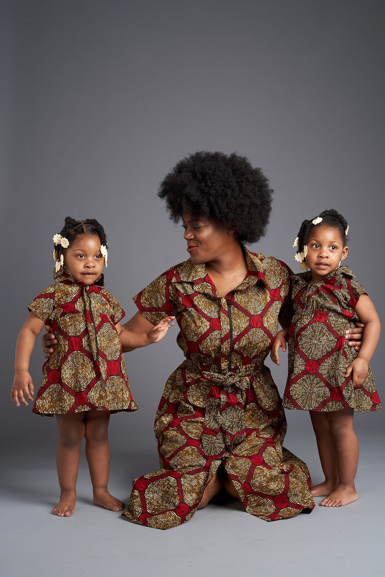 Keji African Print Dress - Kids