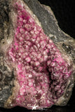 07627 -  Pink Cobaltoan Calcite Crystals on Matrix - Bou Azzer Mine (South Morocco)