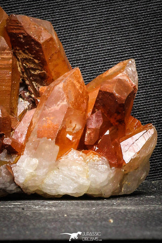 22095 - Top Beautiful 3.91 Inch Natural Red Iron-Oxide Coated Quartz Crystals Cluster