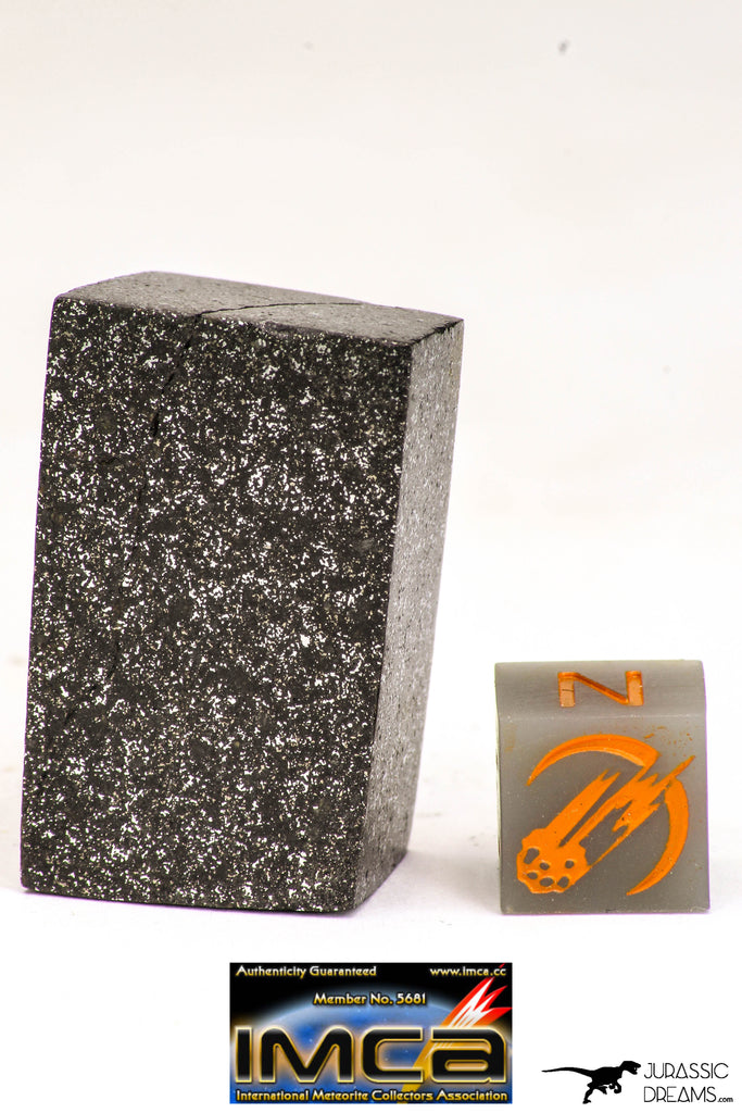 09061 - Top Beautiful NWA Cut and Polished Enstatite Chondrite EL6 24.7 g Geometric Shape