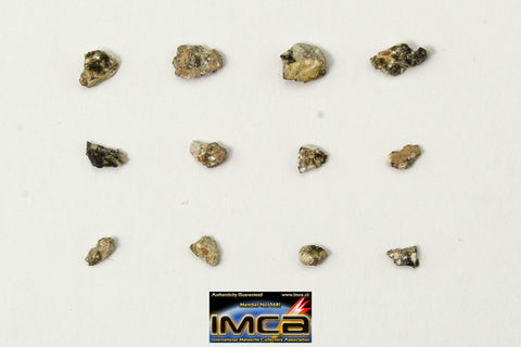 "22244 -  Collection of Lunar Meteorites Paired with ""NWA 11273"" 0.12g (Feldspathic Regolith Breccia)"