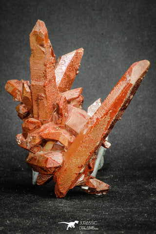 20079 - Top Beautiful 4.46 Inch Natural Red Iron-Oxide Coated Quartz Crystals Cluster