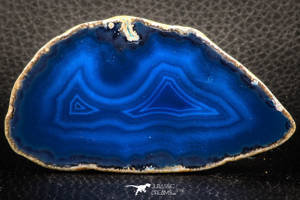 07316 -  Extremely Beautiful 3.35 Inch Brazilian Agate Slice (Chalcedony Geode Section)