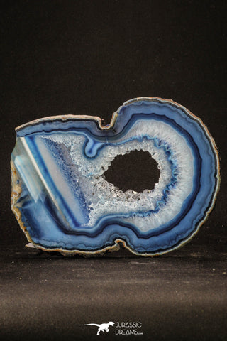 20250 -  Extremely Beautiful 5.30 Inch Brazilian Agate Slice (Chalcedony Geode Section)