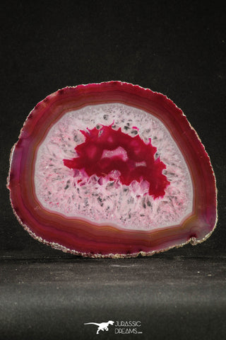 20253 -  Extremely Beautiful 5.20 Inch Brazilian Agate Slice (Chalcedony Geode Section)