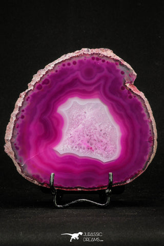 20386 -  Extremely Beautiful 4.67 Inch Brazilian Agate Slice (Chalcedony Geode Section)