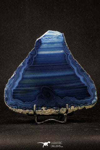 20392 -  Extremely Beautiful 5.07 Inch Brazilian Agate Slice (Chalcedony Geode Section)