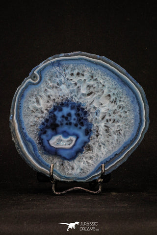 20393 -  Extremely Beautiful 4.79 Inch Brazilian Agate Slice (Chalcedony Geode Section)