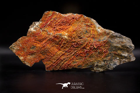 04637 -  Top Huge Red Vanadinite Crystals on Natural Manganese-Iron Oxide Matrix from Morocco