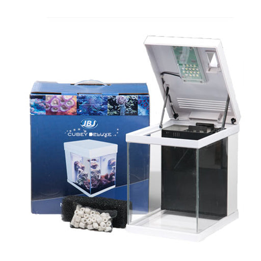 JBJ 3G Nano Cubey All-In-One Aquarium w/remote MT-208DX-W