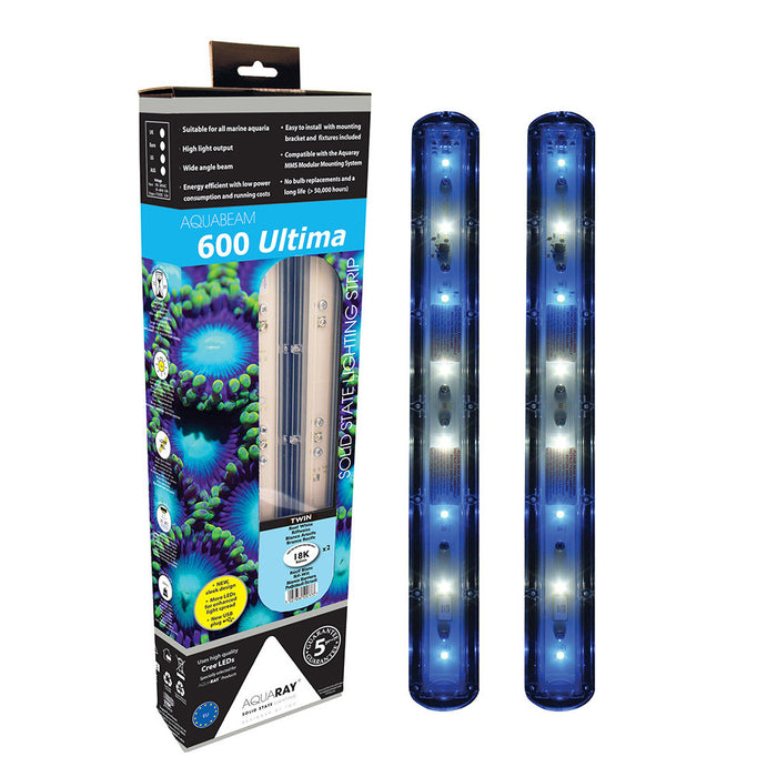 AquaBeam 600 Ultima Strip Reef White Twin