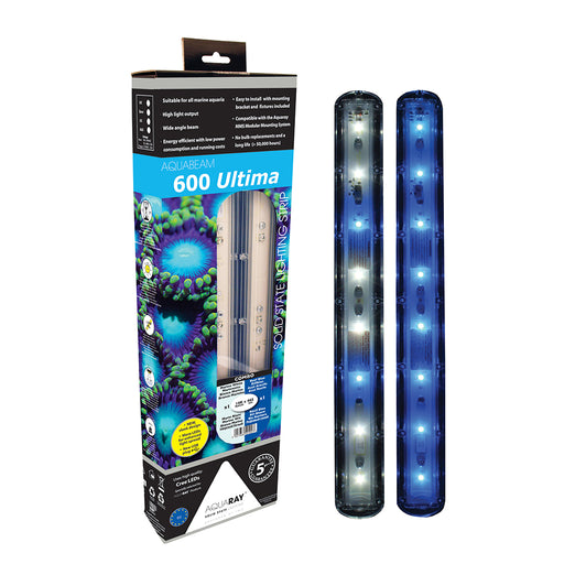AquaRay AquaBeam 600 Ultima Marine White/Reef Blue Strip Combo (Twin)